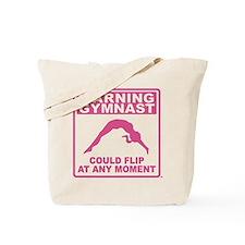 Warning Gymnast Could Flip Tote Bag
