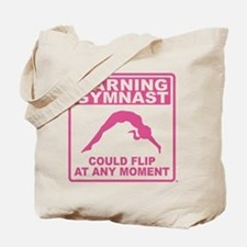 Warning Gymnast Could Flip Tote Bag