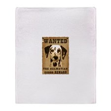 """Wanted"" Dalmatian Throw Blanket"