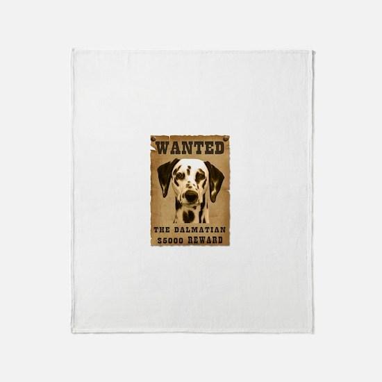 """Wanted"" Dalmatian Throw Blanket"
