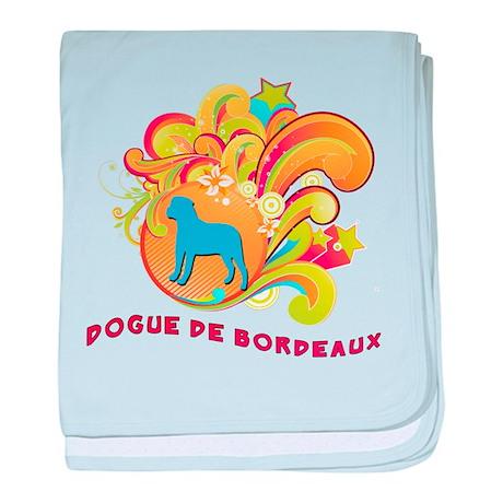 Groovy Dogue de Bordeaux baby blanket