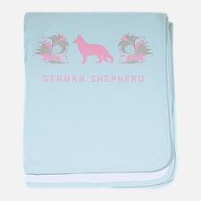 """""""Elegant"""" German Shepherd baby blanket"""