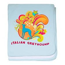 Groovy Italian Greyhound baby blanket