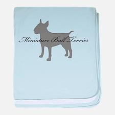 Miniature Bull Terrier baby blanket