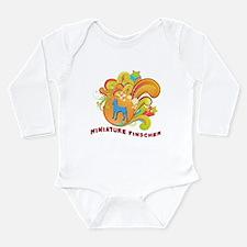 Groovy Miniature Pinscher Long Sleeve Infant Bodys