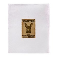 """Wanted"" Miniature Pinscher Throw Blanket"