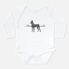 Miniature Pinscher Long Sleeve Infant Bodysuit
