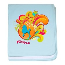 Groovy Poodle baby blanket