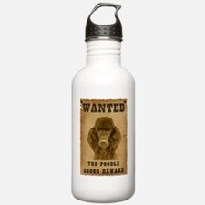 """Wanted"" Poodle Water Bottle"