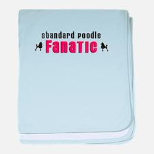 Standard Poodle Fanatic baby blanket