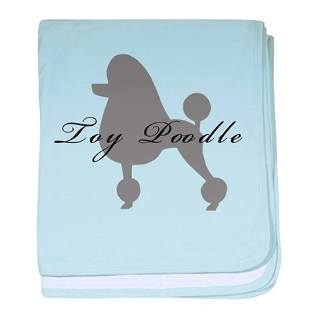 Toy Poodle baby blanket