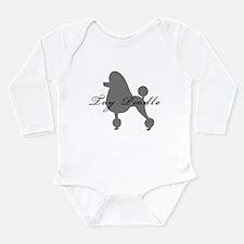 Toy Poodle Long Sleeve Infant Bodysuit