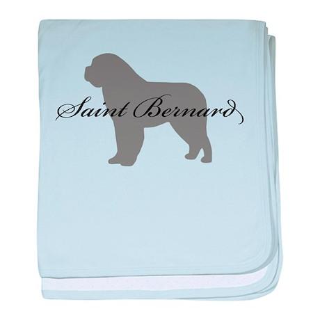 Saint Bernard baby blanket