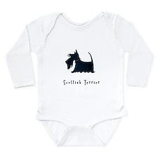 Scottish Terrier Illustration Long Sleeve Infant B