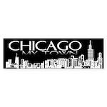 Chicago My Town Bumper Sticker