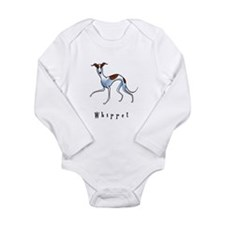 Whippet Illustration Long Sleeve Infant Bodysuit