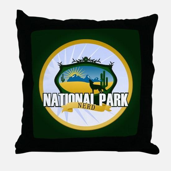 National Park Nerd Throw Pillow