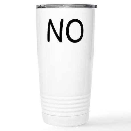 NO Stainless Steel Travel Mug