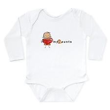 L/S Infant Bodysuit (Girl) | i love my 2 aunts