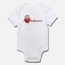 Infant Bodysuit (Girl) | i love my 2 aunts