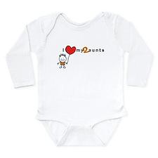 L/S Infant Bodysuit (Boy) | i love my 2 aunts