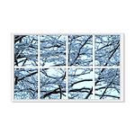 Snowy Branches Window 22x14 Wall Peel