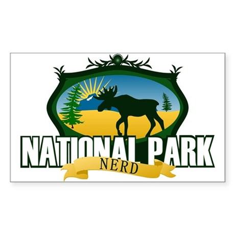 Natl Park Nerd (Ver 2) Sticker (Rectangle)