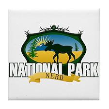 Natl Park Nerd (Ver 2) Tile Coaster