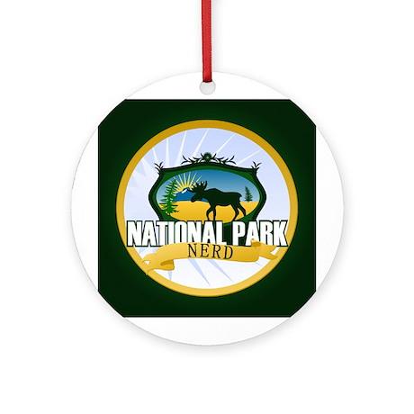 Natl Park Nerd (Ver 2) Ornament (Round)