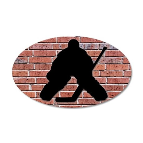 Hockey Goalie 38.5 x 24.5 Oval Wall Peel