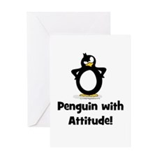 Penguin with Attitude! Greeting Card