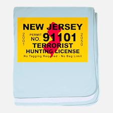 New Jersey Terrorist Hunting baby blanket