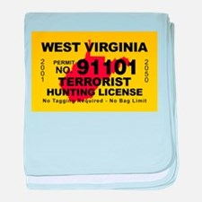 West Virginia Terrorist Hunti baby blanket