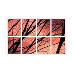 Sunset Trees Window 38.5 x 24.5 Wall Peel