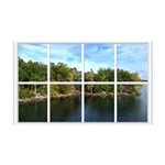 Lake View Window 38.5 x 24.5 Wall Peel
