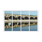 Bridge Reflection Window 38.5 x 24.5 Wall Peel