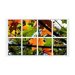 Fall Leaves Window 138.5 x 24.5 Wall Peel