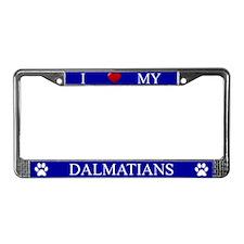 Blue I Love My Dalmatians Frame