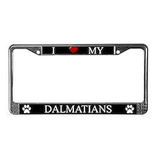 Black I Love My Dalmatians Frame