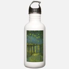 Van Gogh Starry Night Over the Rhone Water Bottle