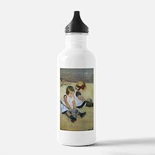 Cassatt Children Playing on Beach Water Bottle