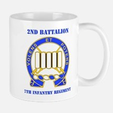 DUI - 2nd Bn - 7th Infantry Regt with Text Mug