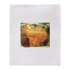 Flaming June by Leighton Throw Blanket