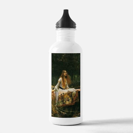Lady of Shalott by JW Waterhouse Water Bottle