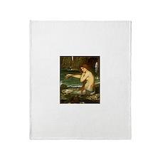 Mermaid by JW Waterhouse Throw Blanket