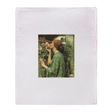 My Sweet Rose by JW Waterhouse Throw Blanket