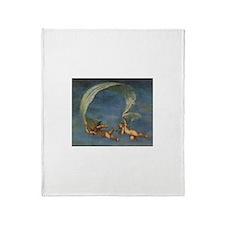 Vintage Angels by Albani Throw Blanket