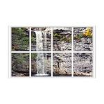Waterfall Window A faux windo38.5 x 24.5 Wall Peel