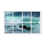Pacific Ocean Wave Window 22x14 Wall Peel