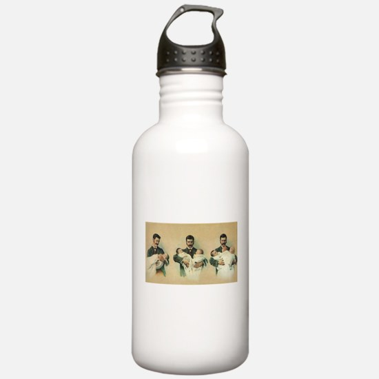 Vintage Father's Day Water Bottle